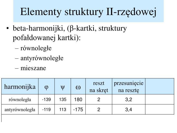 Elementy struktury II-rzędowej