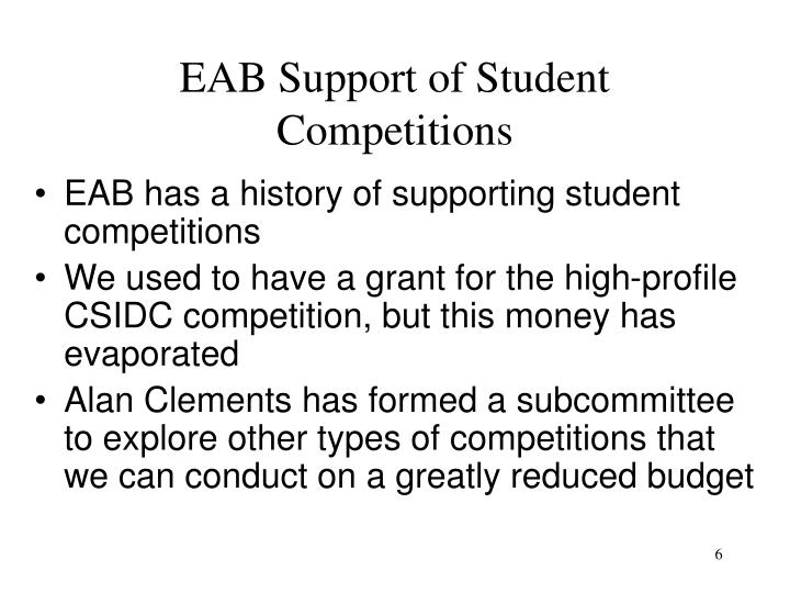 EAB Support of Student Competitions