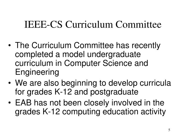 IEEE-CS Curriculum Committee