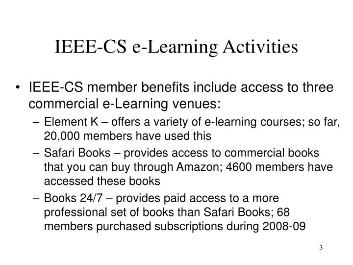 Ieee cs e learning activities