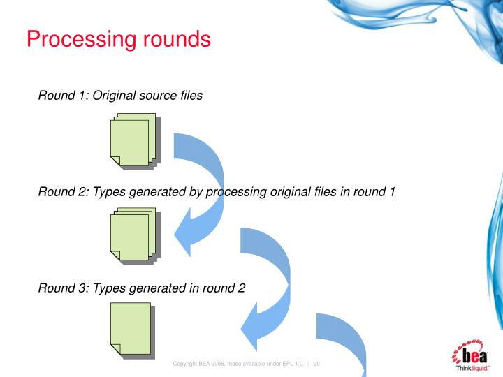 Processing rounds