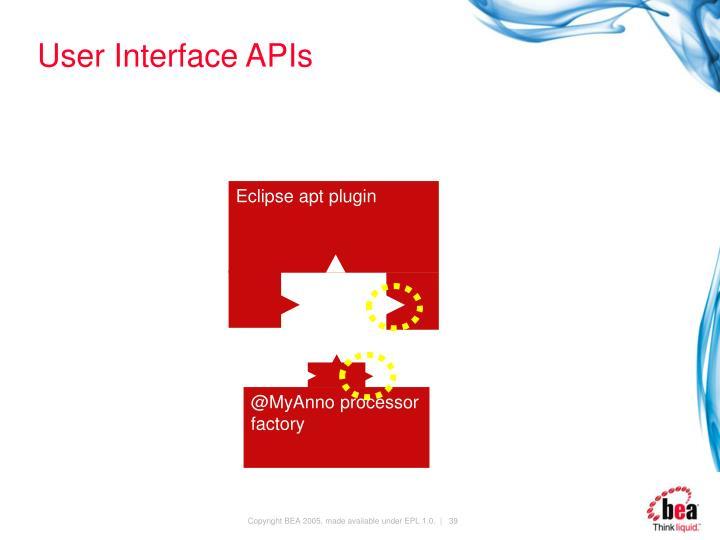 User Interface APIs