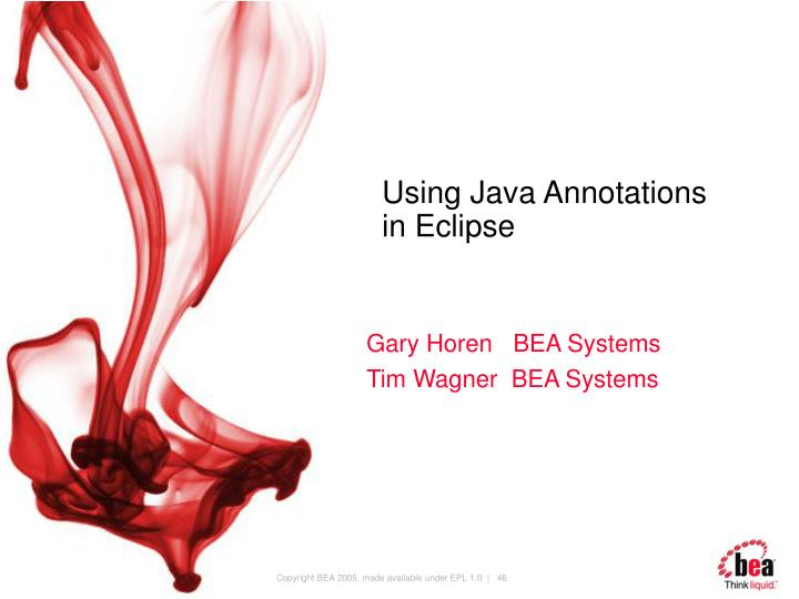 Using Java Annotations
