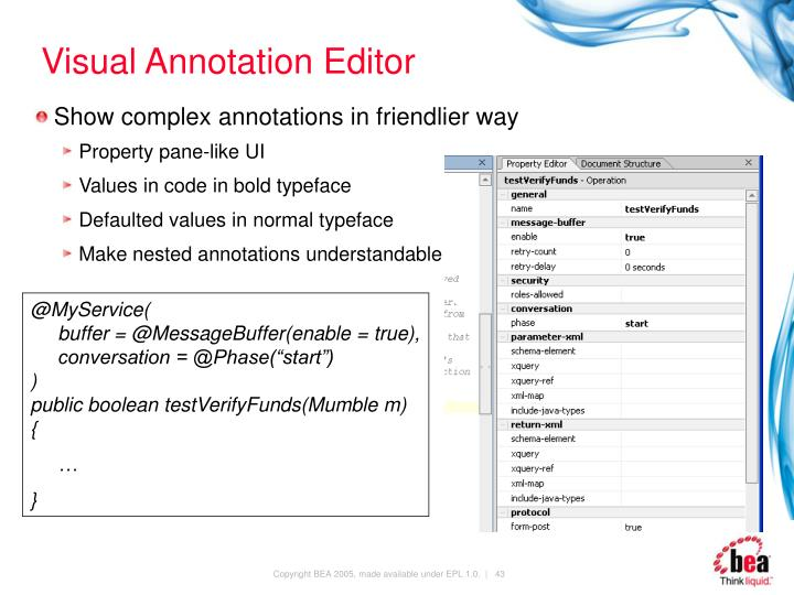 Visual Annotation Editor