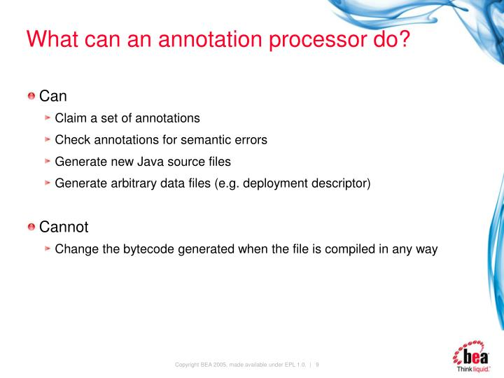 What can an annotation processor do?