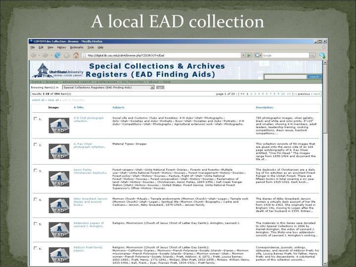A local EAD collection