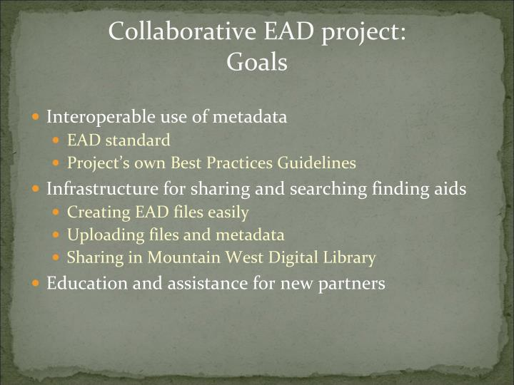 Collaborative EAD project: