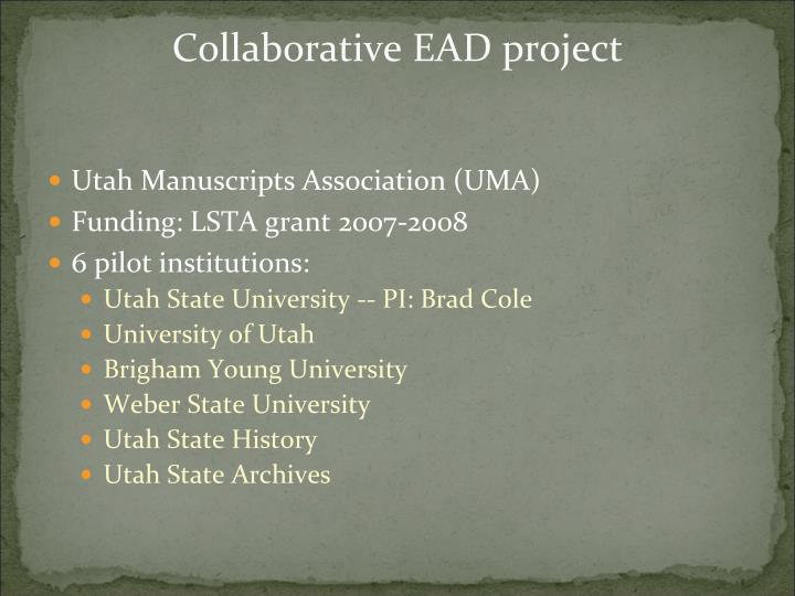 Collaborative EAD project