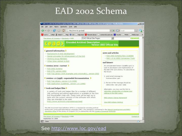 EAD 2002 Schema