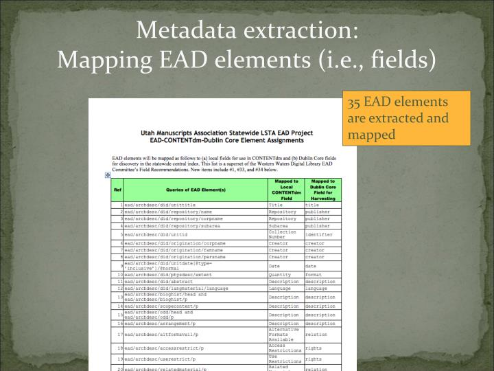 Metadata extraction: