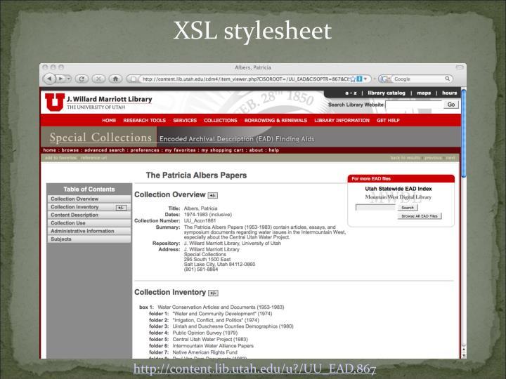 XSL stylesheet