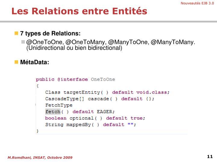 7 types de Relations: