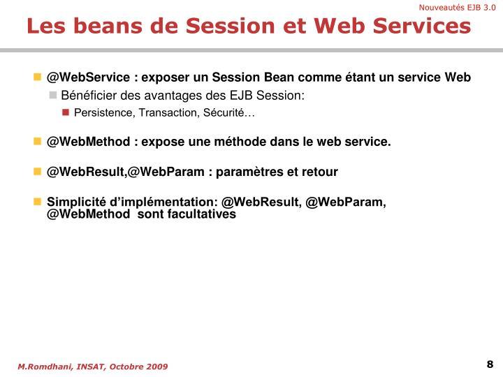 @WebService : exposer un Session Bean comme étant un service Web