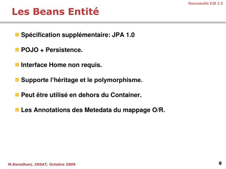 Spécification supplémentaire: JPA 1.0