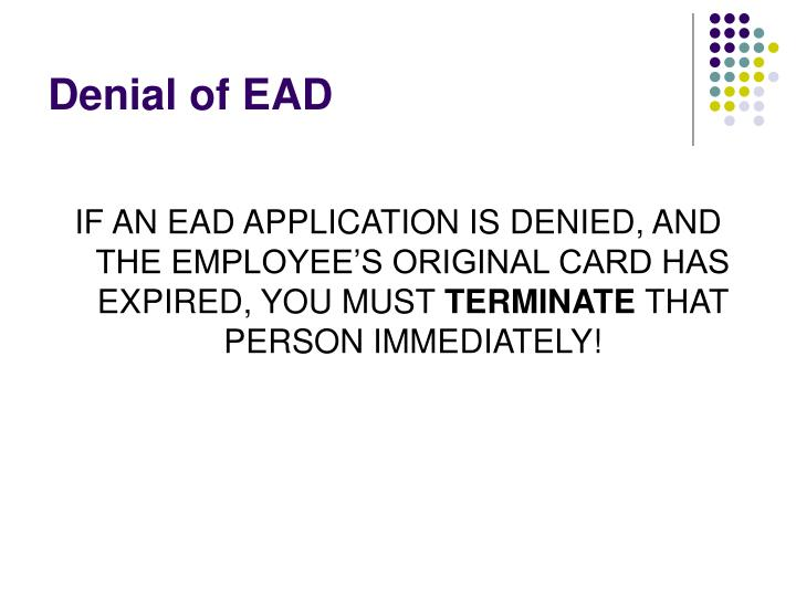 Denial of EAD