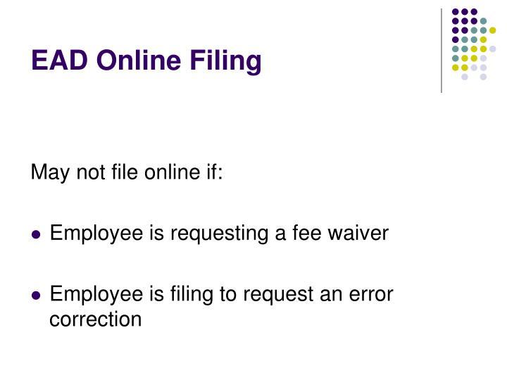 EAD Online Filing