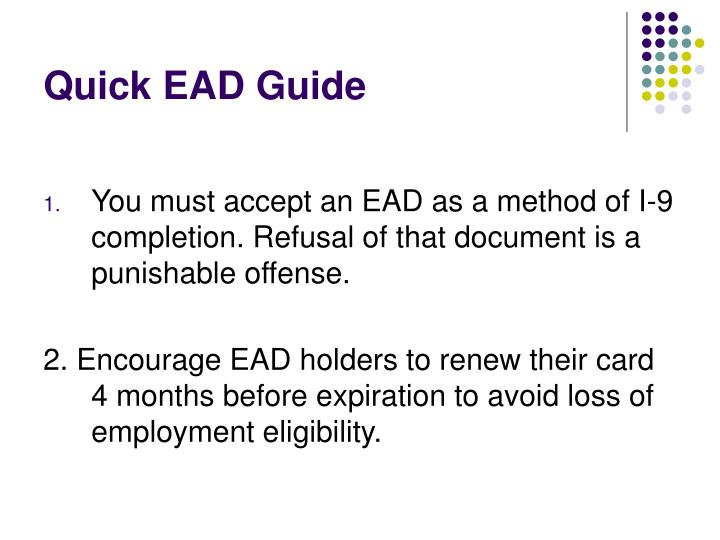 Quick EAD Guide