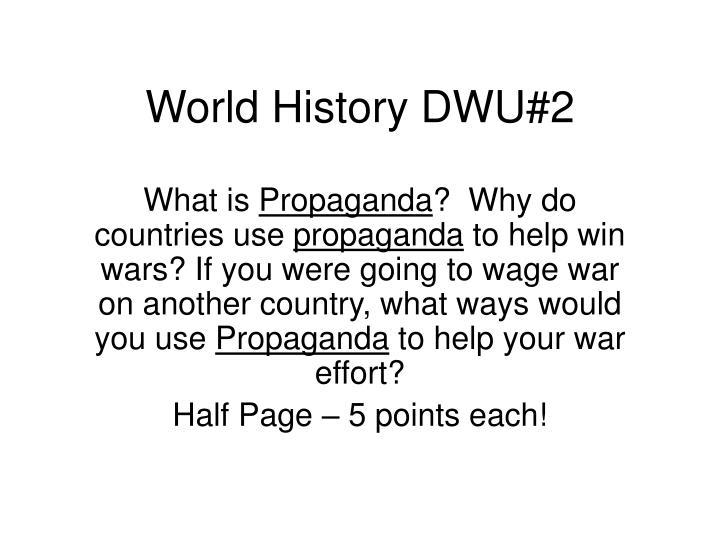 World History DWU#2