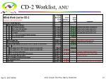 cd 2 worklist anu