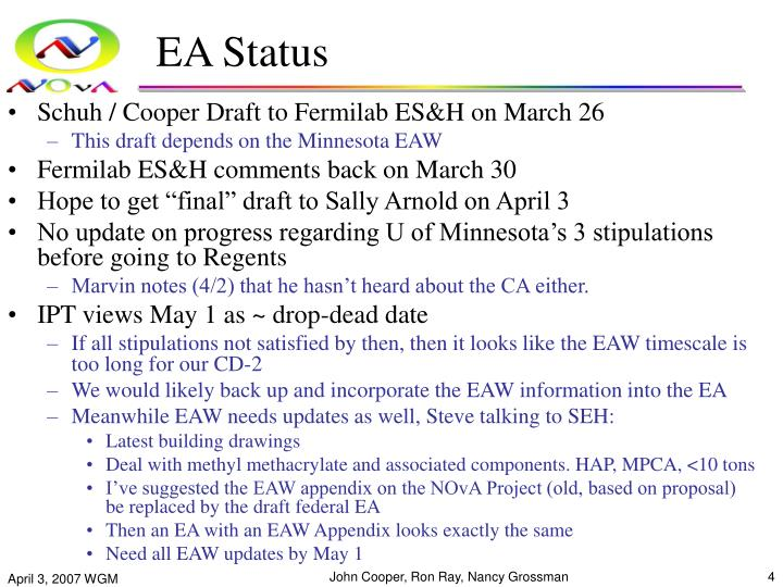 EA Status