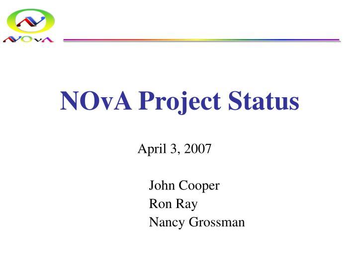 NOvA Project Status