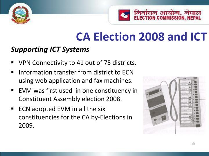 CA Election 2008 and ICT