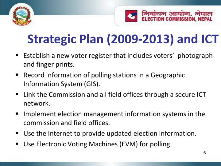 Strategic Plan (2009-2013) and ICT