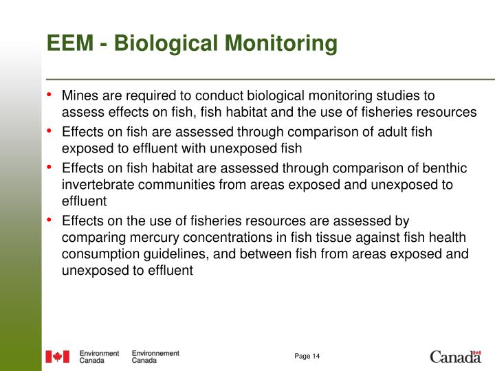 EEM - Biological Monitoring