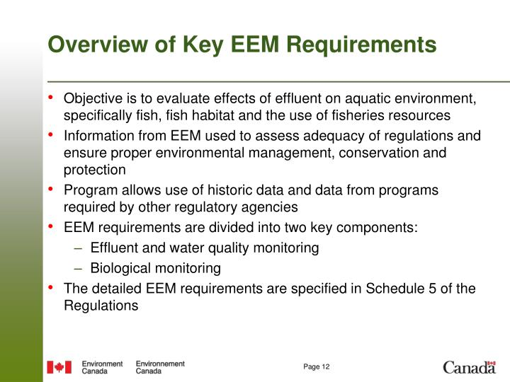 Overview of Key EEM Requirements