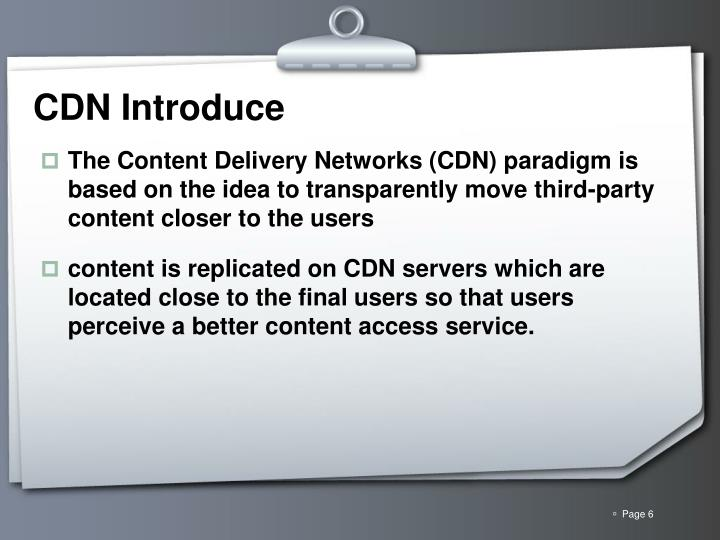 CDN Introduce
