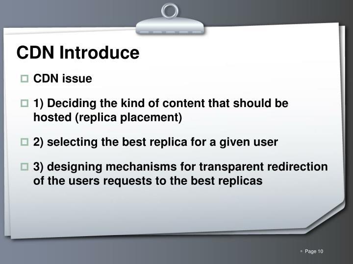 CDN Introduce