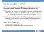psa application to psr2