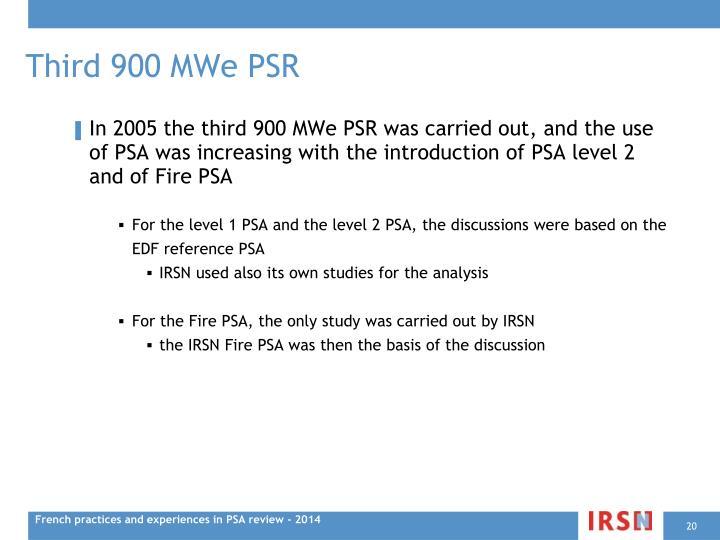 Third 900 MWe PSR