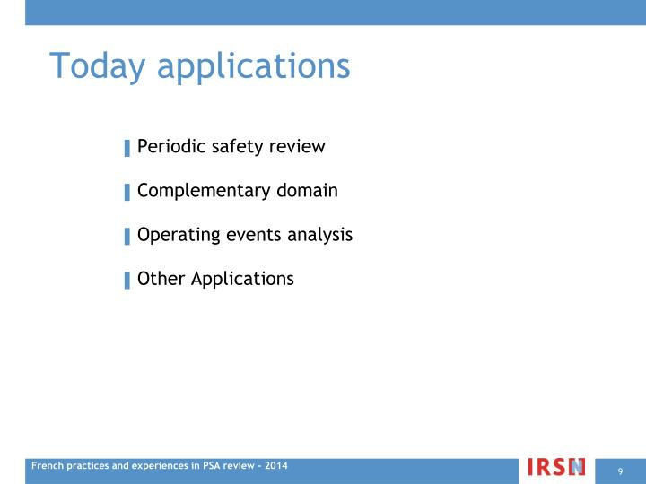 Today applications