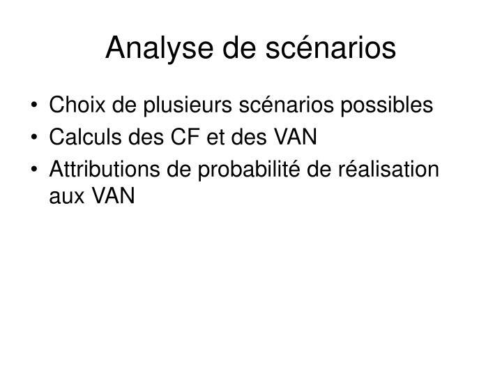 Analyse de scénarios