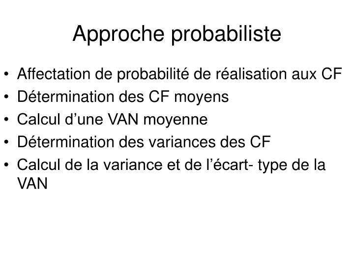 Approche probabiliste