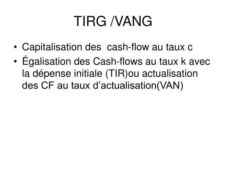 TIRG /VANG