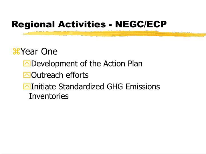 Regional Activities - NEGC/ECP