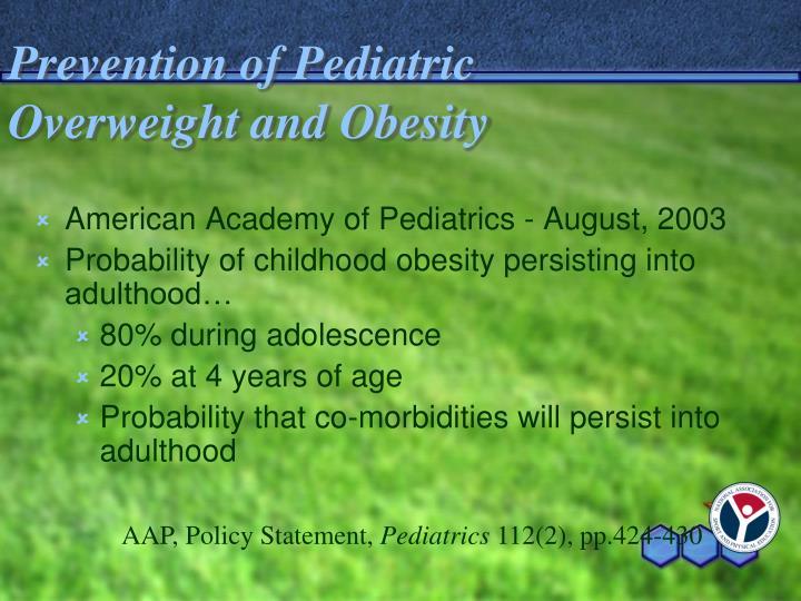 Prevention of Pediatric