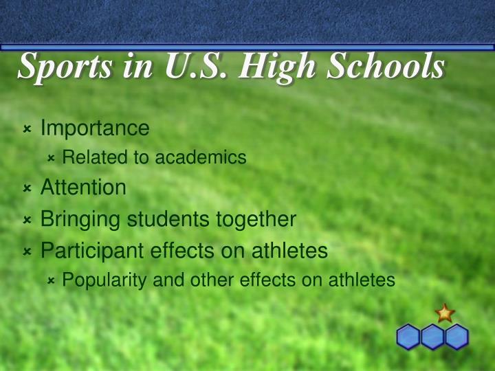 Sports in U.S. High Schools