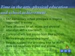 time in the arts physical education and school achievement