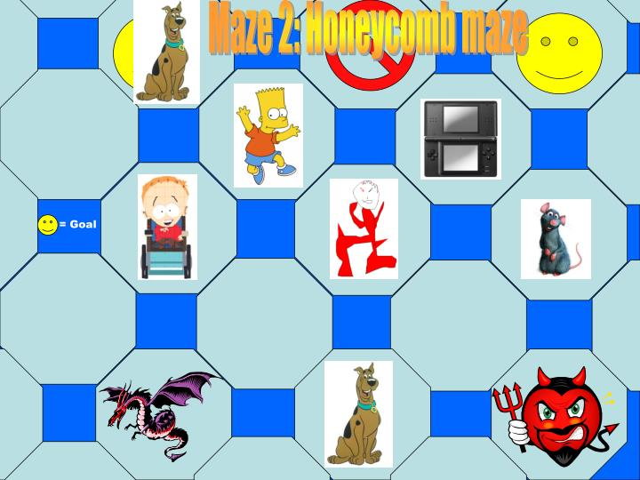 Maze 2: Honeycomb maze