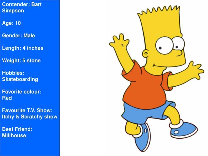 Contender: Bart Simpson