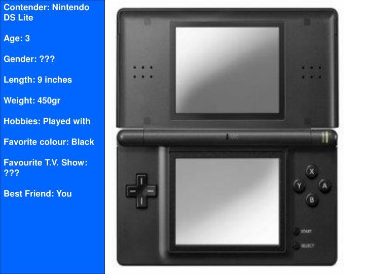 Contender: Nintendo DS Lite