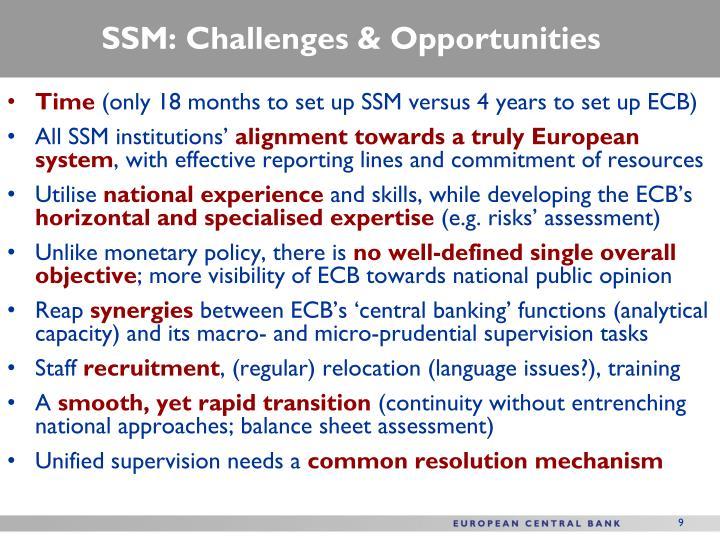 SSM: Challenges & Opportunities