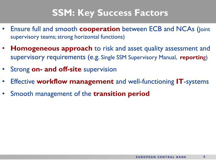 SSM: Key Success Factors