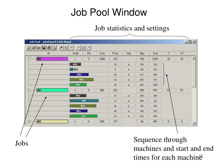 Job Pool Window