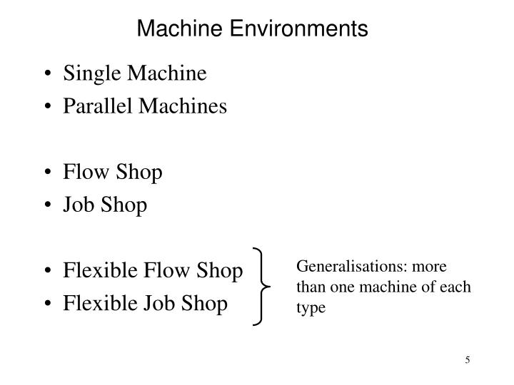 Machine Environments