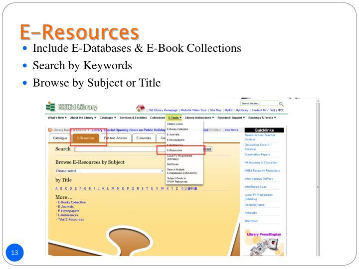 E-Resources