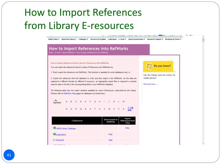 How to Import References